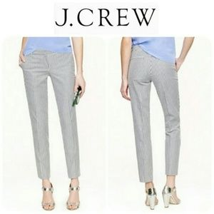 J. Crew Cafe Capri in Seersucker Stripe Pants